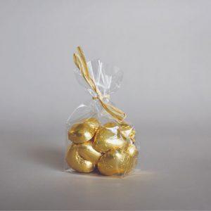 לבבות שוקולד זהב